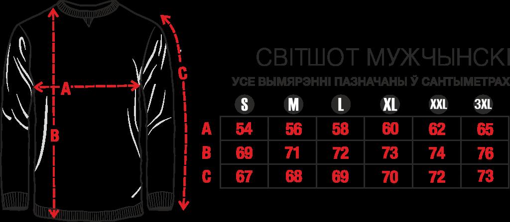 """Цішотка жаночая """"United States of Belarus"""": Світшот мужчынскі"""