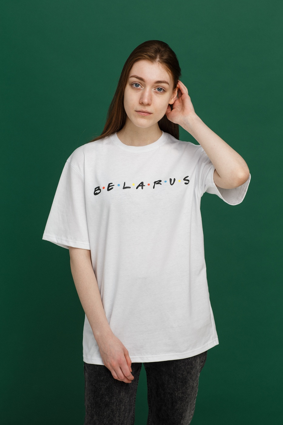 "Цішотка ""Friends Belarus"" White унісэкс"