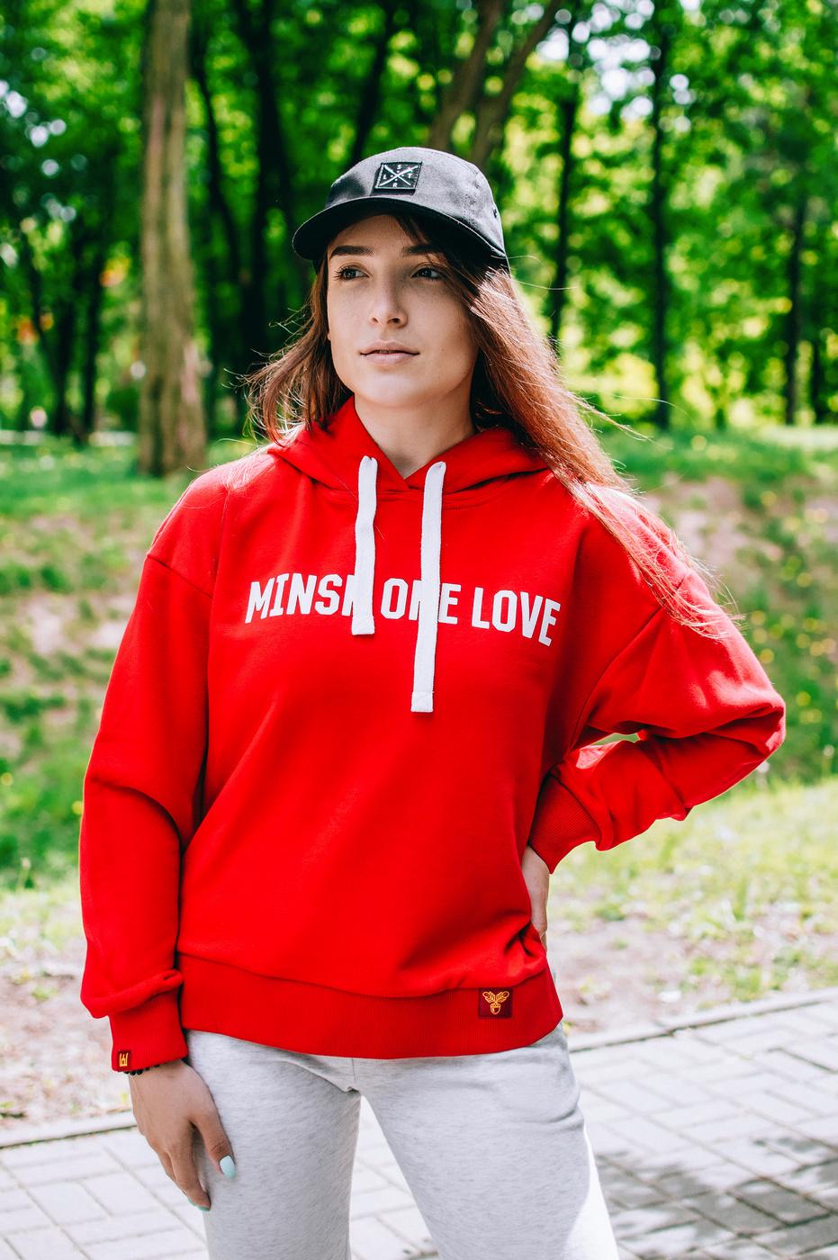 """Худзі жаночае """"Minsk One Love"""" Red"""