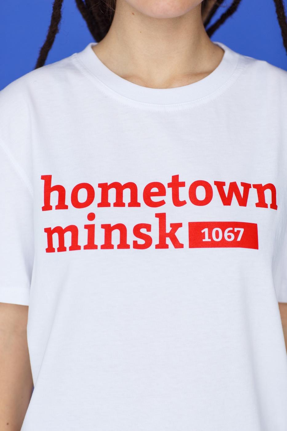 "Цішотка ""Hometown Minsk"" Белая жаночая"
