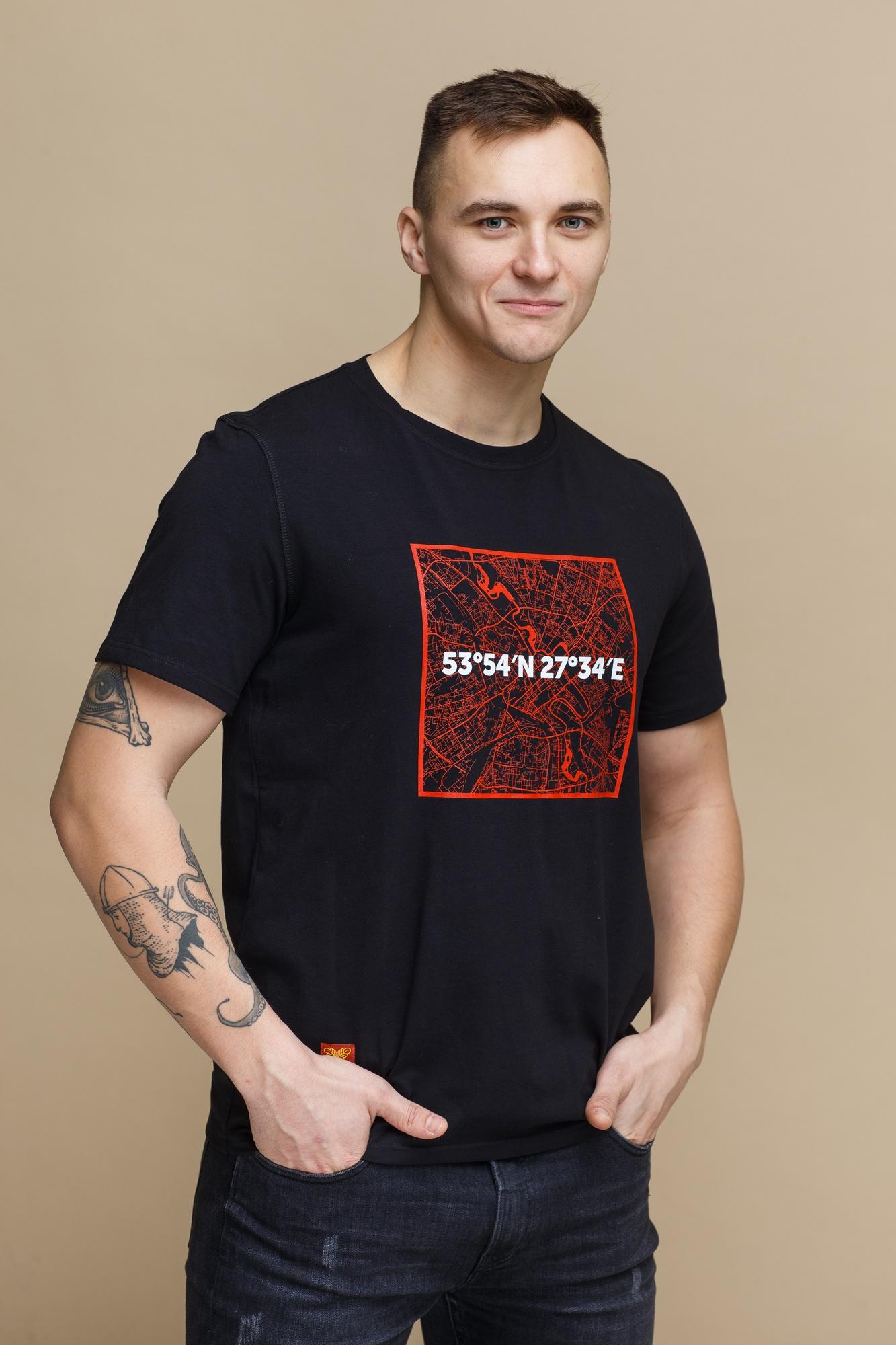 """Цішотка """"Каардынаты Менск"""" чорная"""