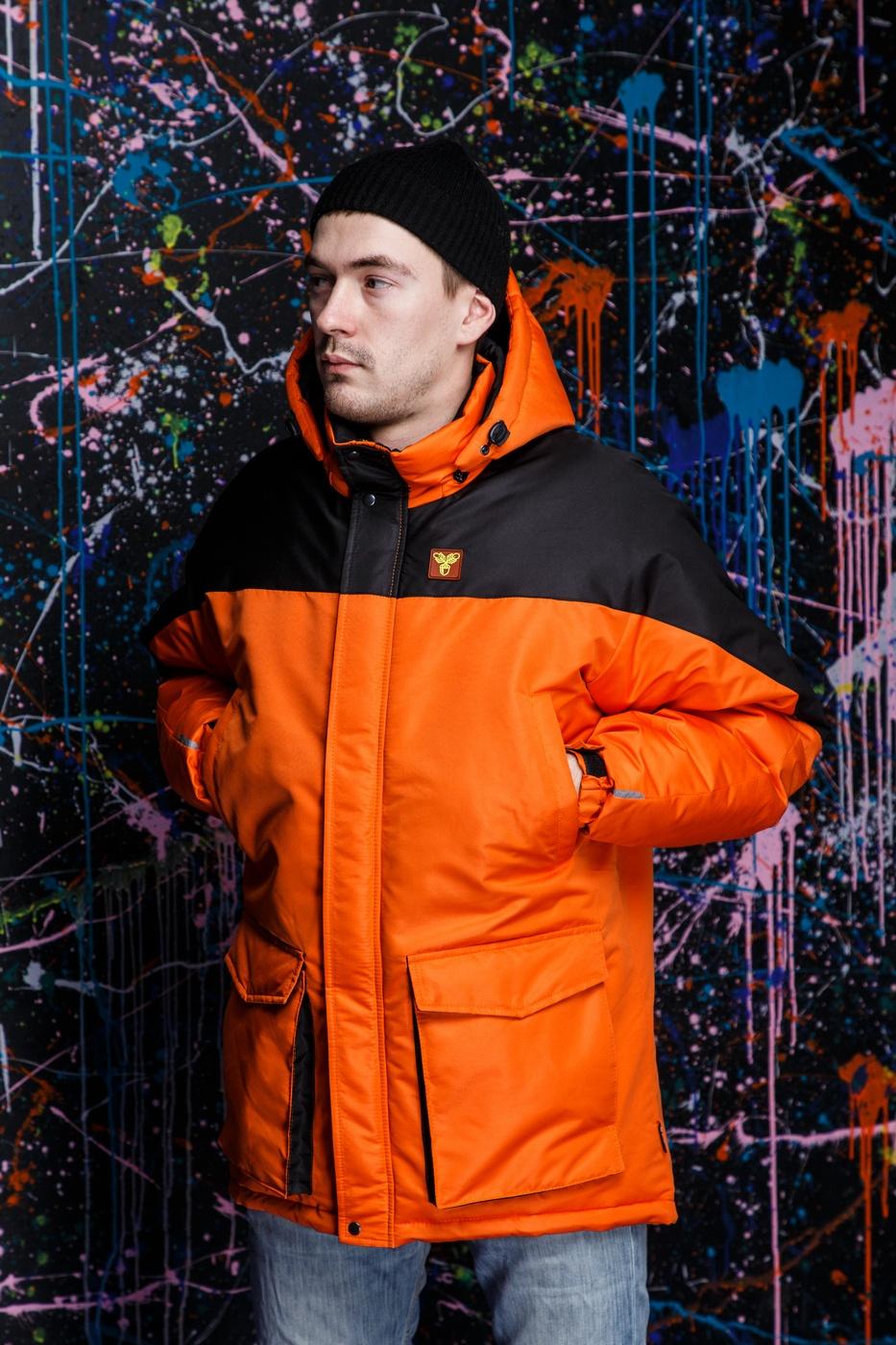 """Куртка """"ZIMA"""" Orange-Black"""