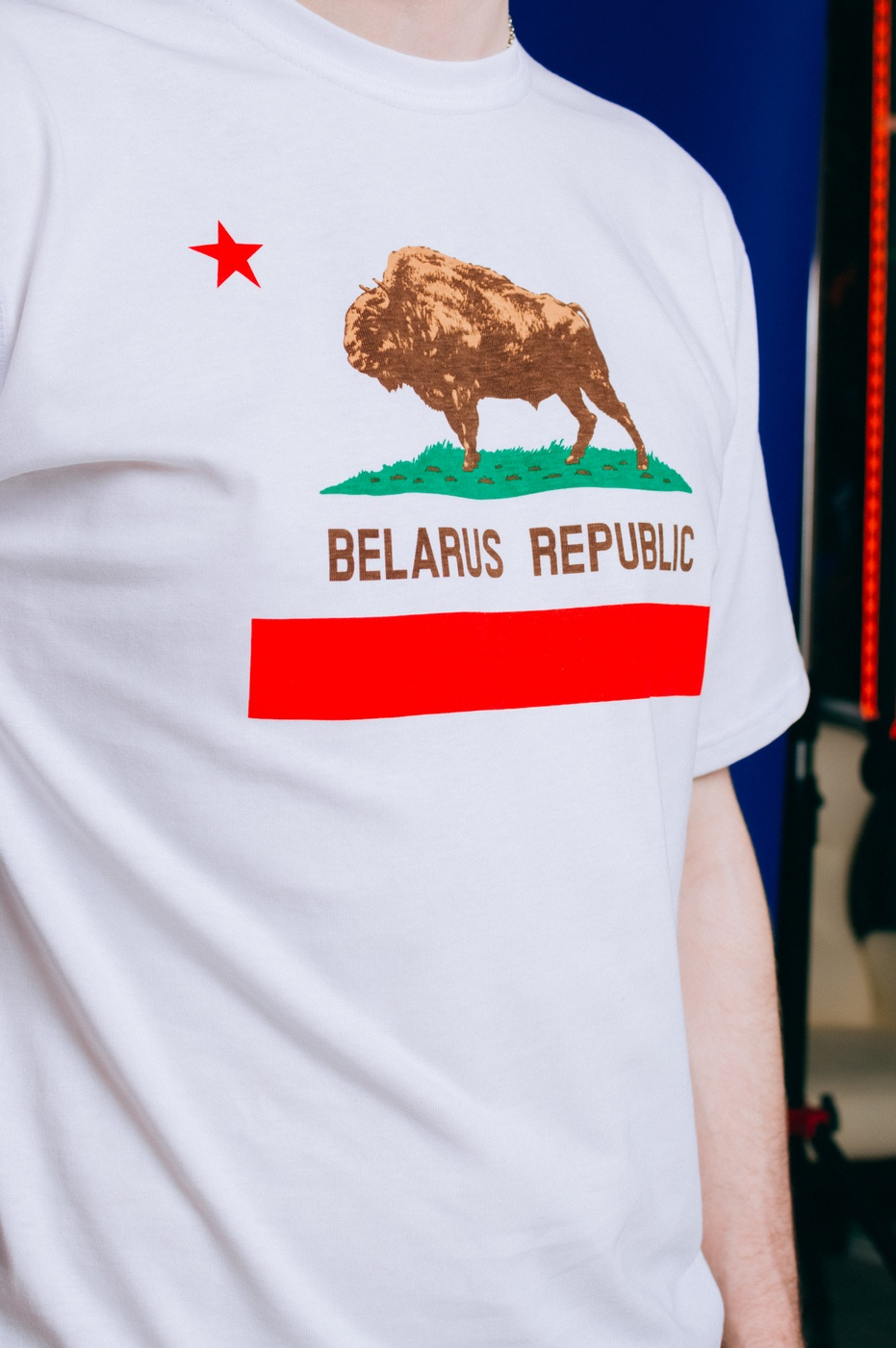 "Цішотка ""Belarus Republic"" White унісэкс"