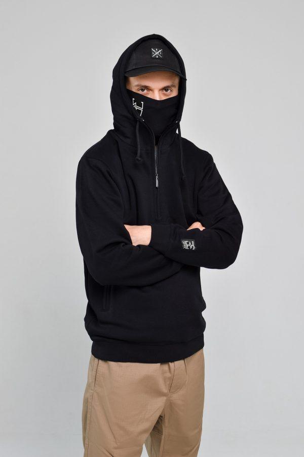 Худзі-зіппер EPATAGE MASKED Black